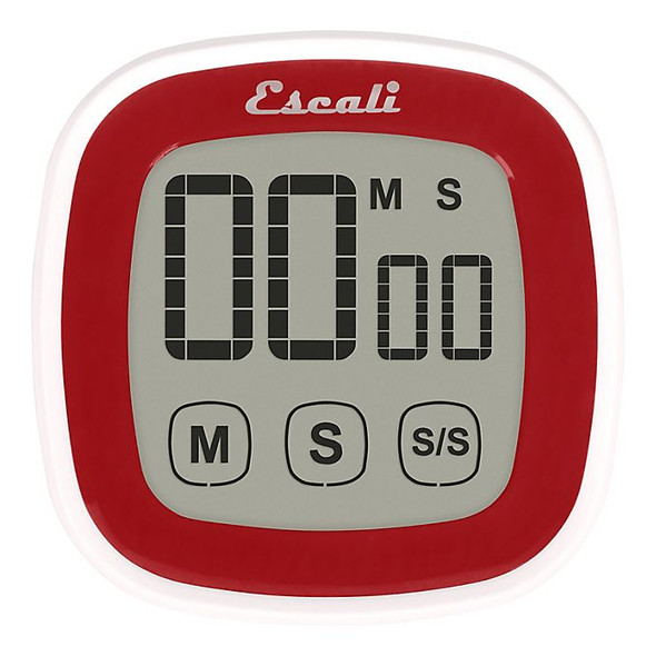 Escali® 3-Inch Touch Screen Digital Timer in Red