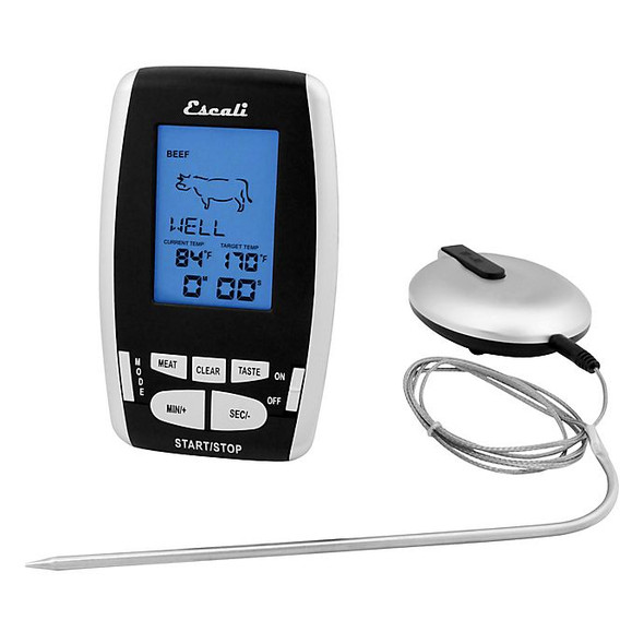Escali® Wireless Thermometer and Timer in Silver/Black