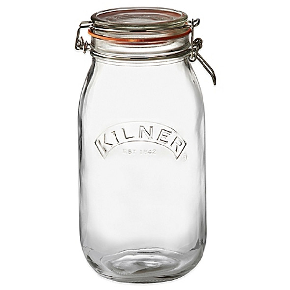 Kilner® 102 oz. Round Clip Top Canning Jar