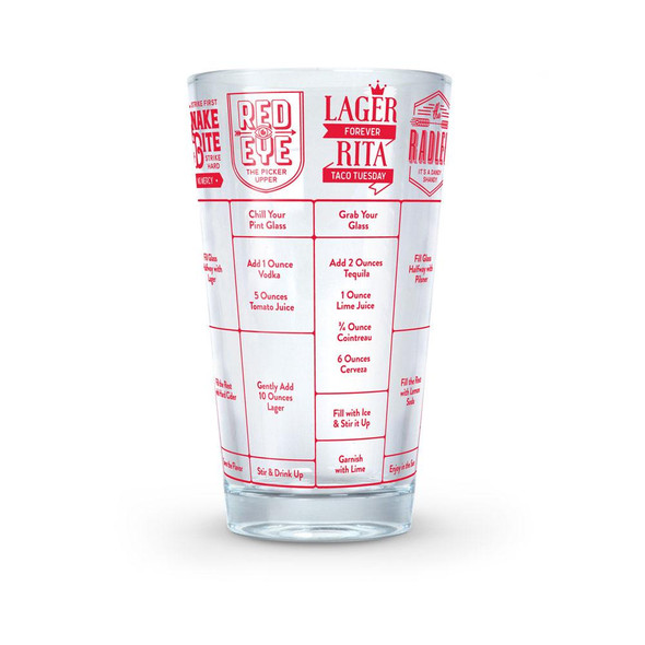 Fred & Friends® Beer 16 oz. Good Measure Recipe Glass
