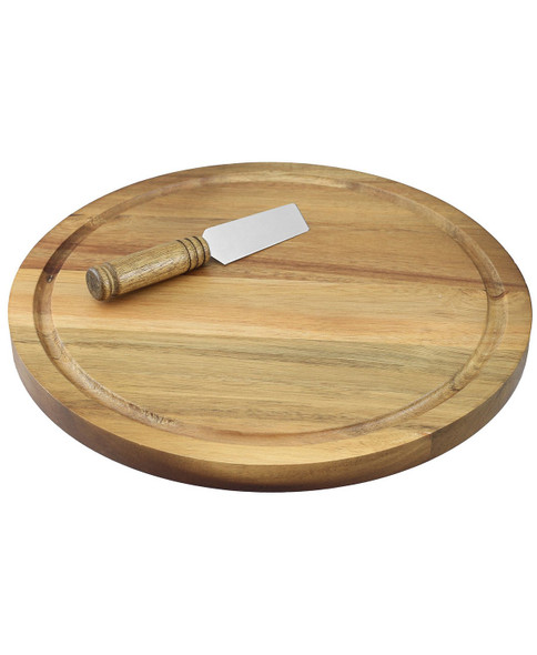 CraftKitchen™ 11-Inch Round Cheese Board and Knife Set