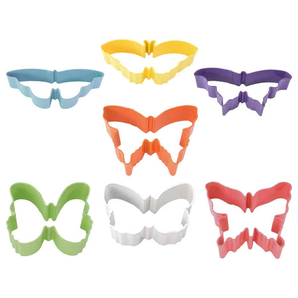 R & M International 7-piece Assorted Color Butterfly Cookie Cutter Set
