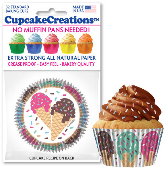 Cupcake Creations Happy Birthday Baking Cups (32 Pack)