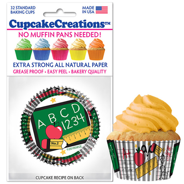 Cupcake Creations School Days Baking Cups (32 Pack)