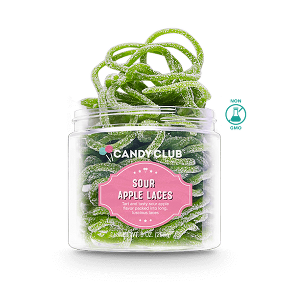 Candy Club 3 oz. Sour Apple Laces