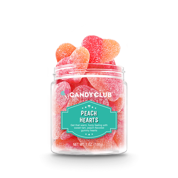 Candy Club 7 oz. Peach Hearts