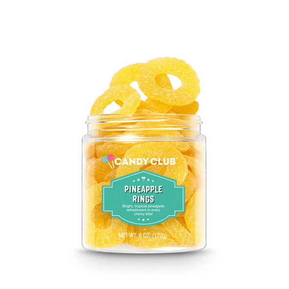 Candy Club 6 oz. Pineapple Rings