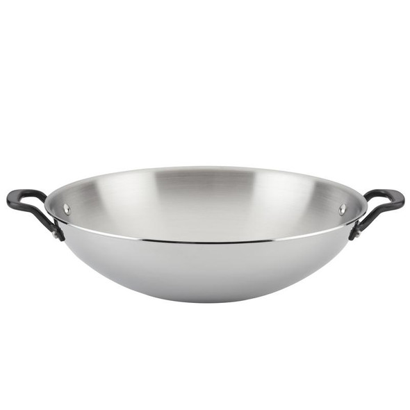 Kitchenaid® 5-Ply Clad 15-Inch Stainless Steel Wok