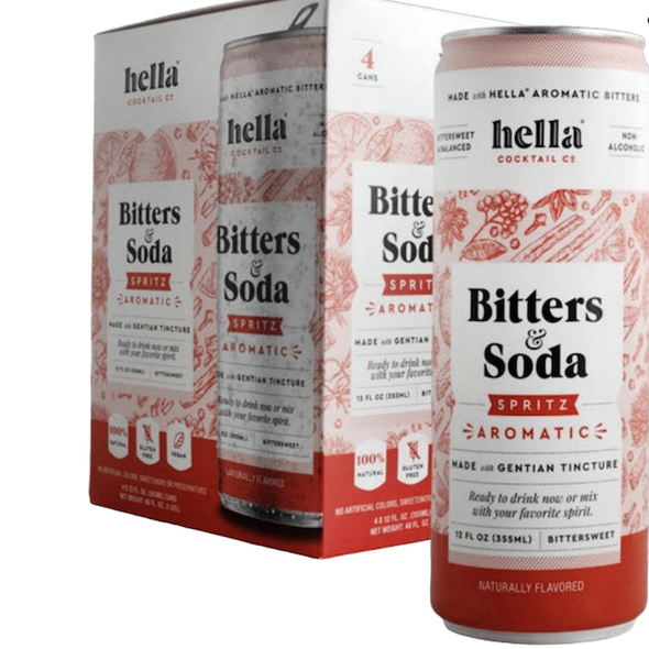 Hella 12 oz. Can Bitters & Soda Spritz Aromatic (4-Pack)