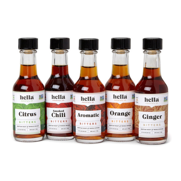 Hella Five Flavor Bitters Bar Set