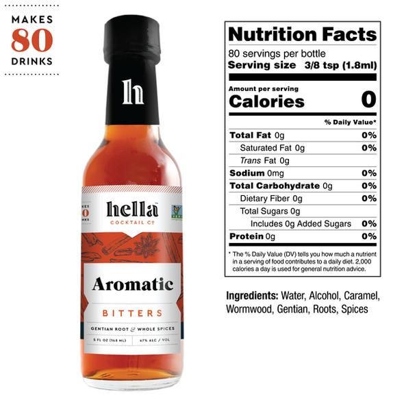 Hella 5 oz. Aromatic Cocktail Bitters