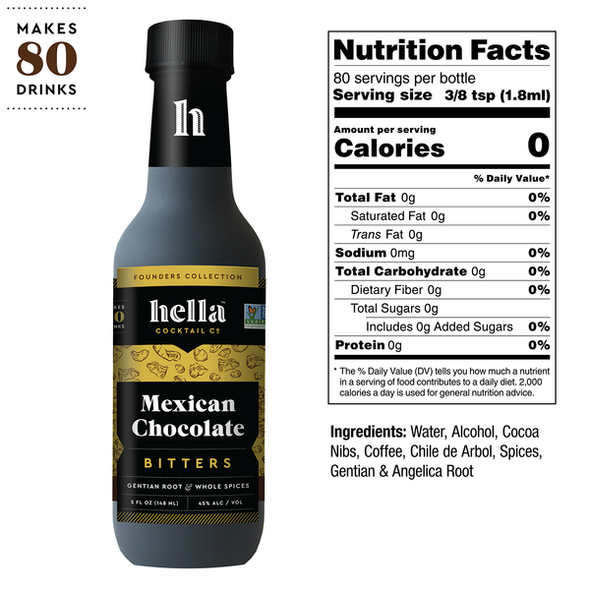 Hella 5 oz. Mexican Chocolate Cocktail Bitters