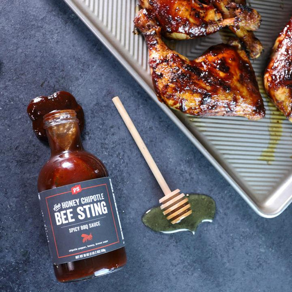 PS Seasoning 18 oz. Hot Honey Bee Sting Chipolte BBQ Sauce