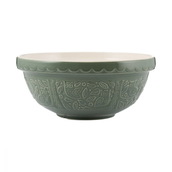 Mason Cash® 2.85 qt. In the Forest Owl Embossed Mixing Bowl in Green