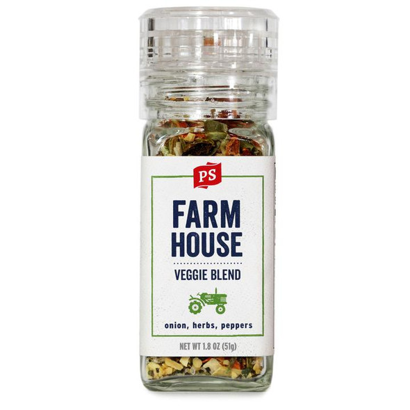 PS Seasoning 1.8 oz. Farm House Veggie Blend Grinder