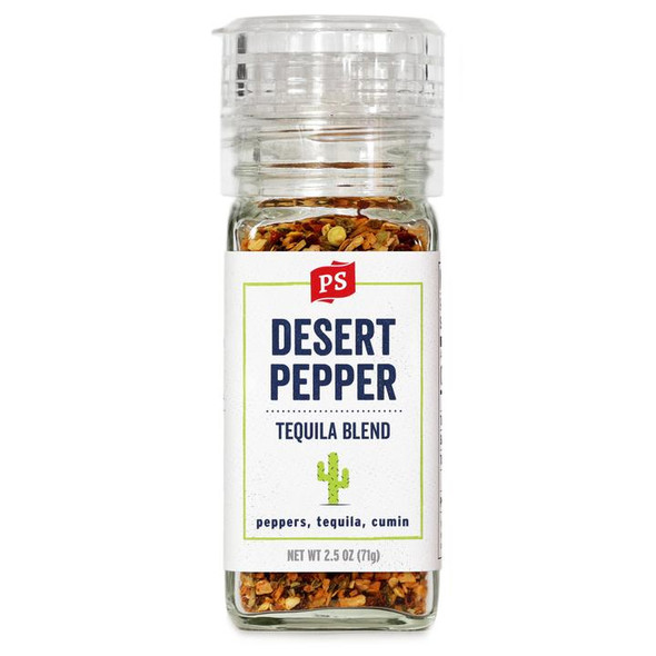 PS Seasoning 2.5 oz. Desert Pepper Tequila Blend Grinder