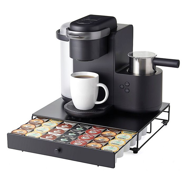 Nifty Home Products 42 K-Cup Coffee Pod Rolling Drawer in Black