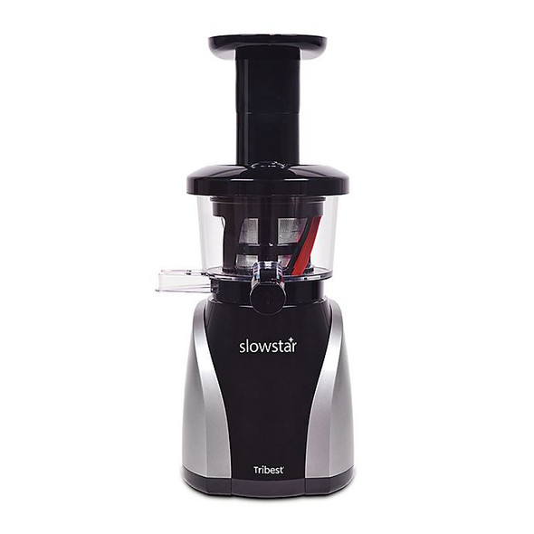 Tribest® Slowstar® Vertical Slow Juicer and Mincer in Black/Silver