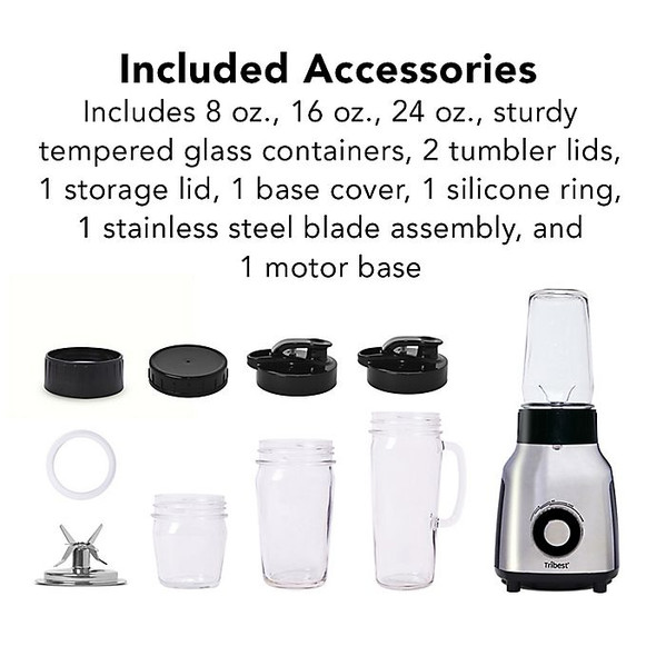 Tribest® Glass Personal Blender in Chrome