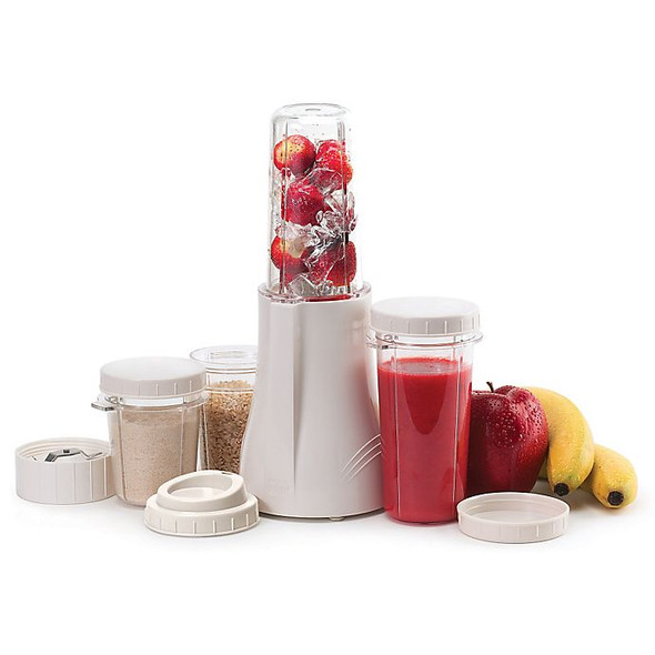 Tribest® Compact Personal Blender & Grinding Set in White