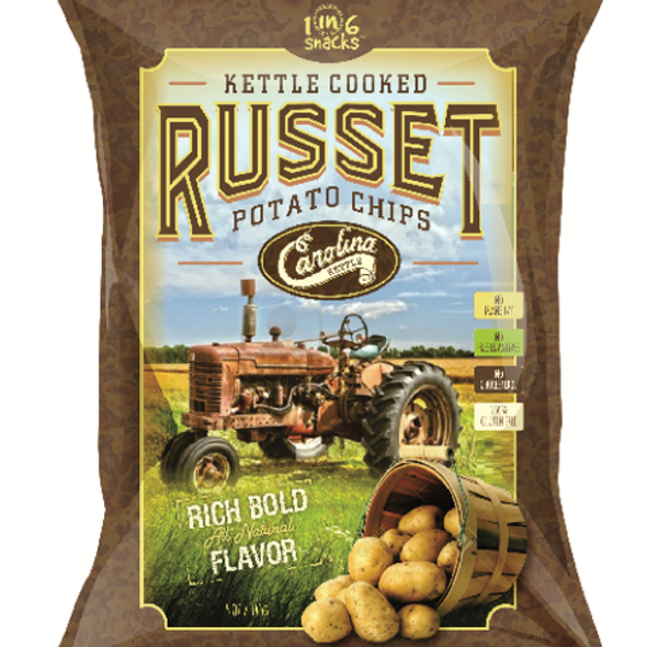 Carolina Kettle 5 oz. Russet Potato Kettle Cooked Potato Chips (7 Pack)