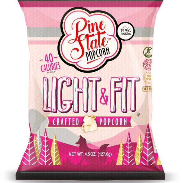 Pine State 4.5 oz. Light & Fit Crafted Popcorn