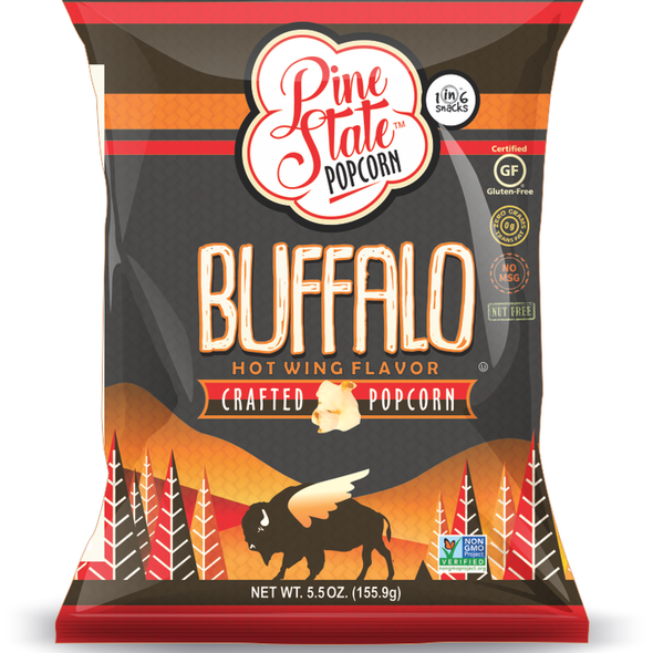 Pine State 5.5 oz. Buffalo Hot Wing Flavor Crafted Popcorn