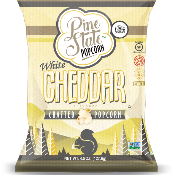 Pine State 5.5 oz. White Cheddar Crafted Popcorn