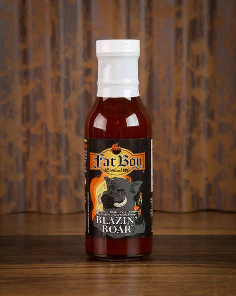 Fat Boy 12 oz. Blazinƒ?? Boar Gluten Free Natural BBQ Sauce