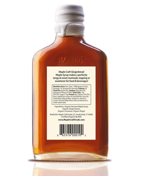 Maple Craft 6.8 oz. Organic Gingerbread Maple Syrup