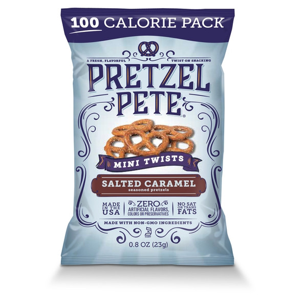 Pretzel Pete 8 oz. Salted Caramel Mini Twists (24 Pack)