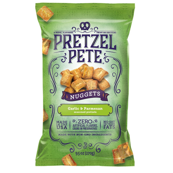 Pretzel Pete 9.5 oz. Garlic Parmesan Nuggets