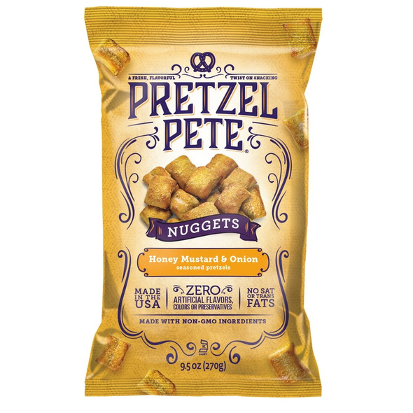 Pretzel Pete 9.5 oz. Honey Mustard & Onion Nuggets