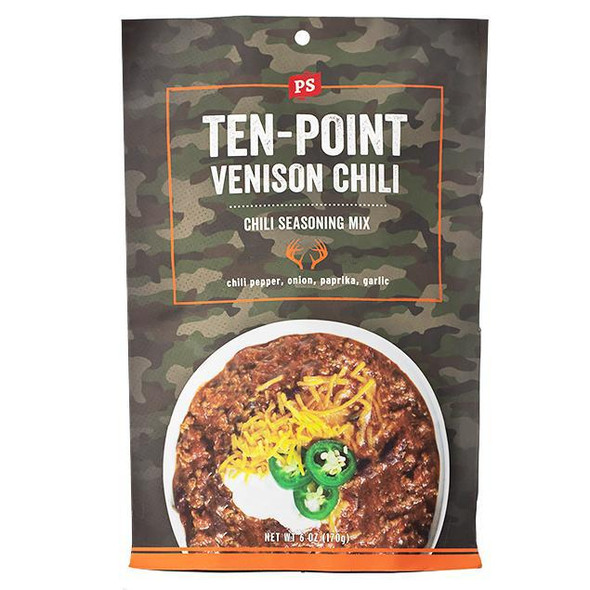 PS Seasoning 6 oz. Ten-Point Venison Chili Mix