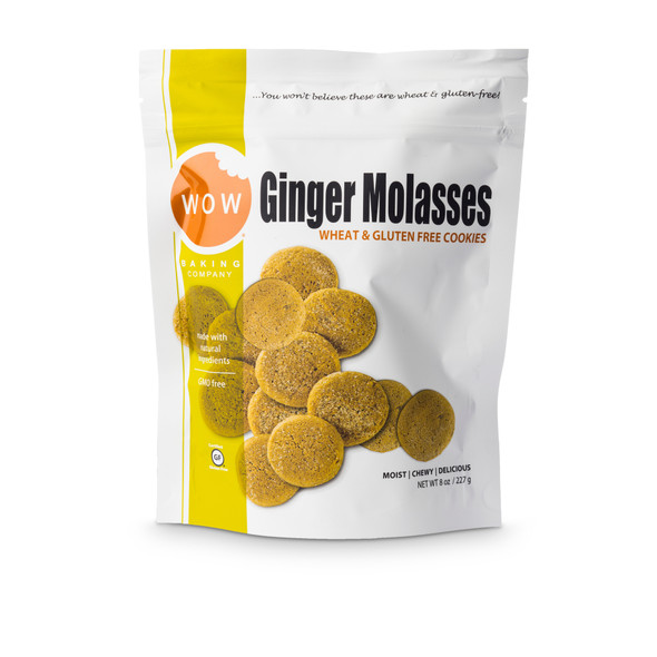WOW Baking Co. 8 oz. Bag Gluten Free Ginger Molasses Cookies