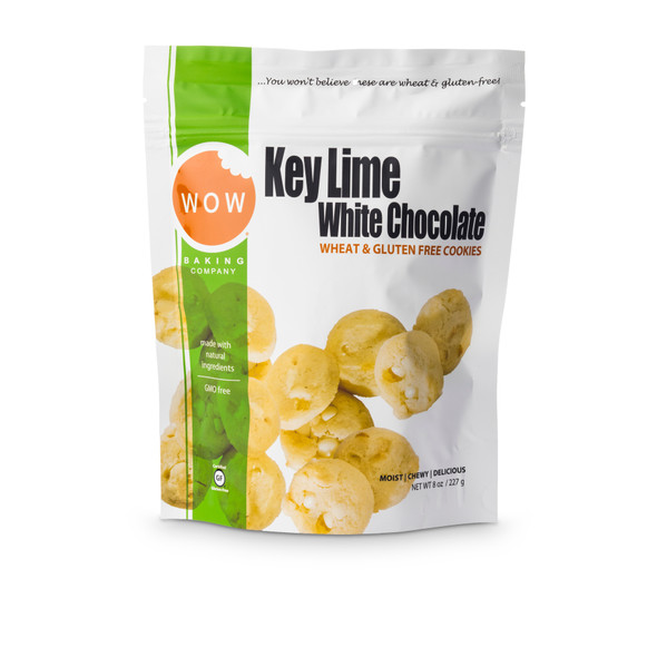 WOW Baking Co. 8 oz. Bag Gluten Free Key Lime White Chocolate Cookies (6 Pack)