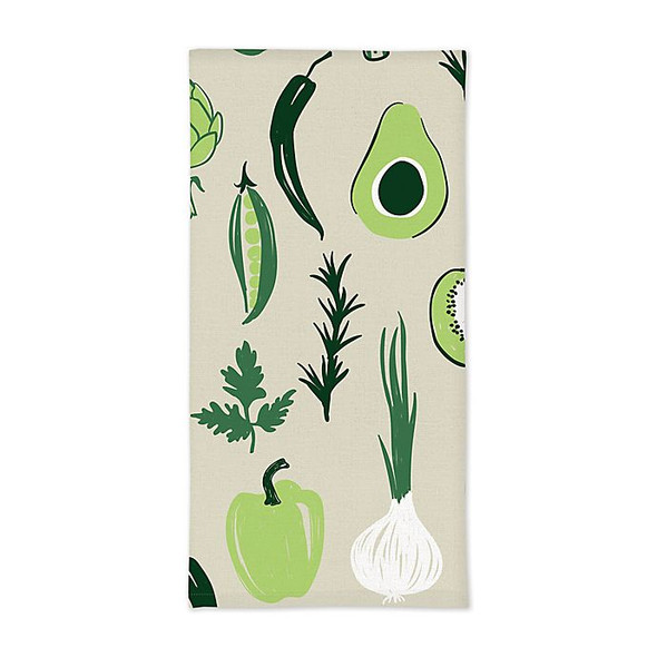MU Kitchen™ Designer Print Vegetables Kitchen Towels in Beige (Set of 2)