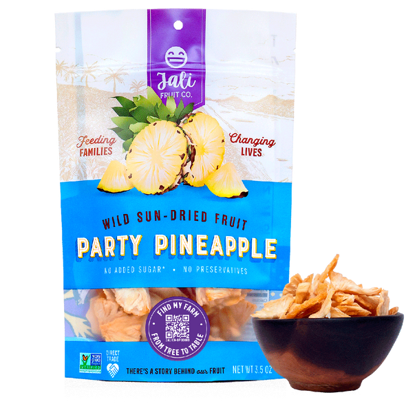 Jali 3.5 oz. Party Pineapple Sun-Dried Pineapple (6 Pack)