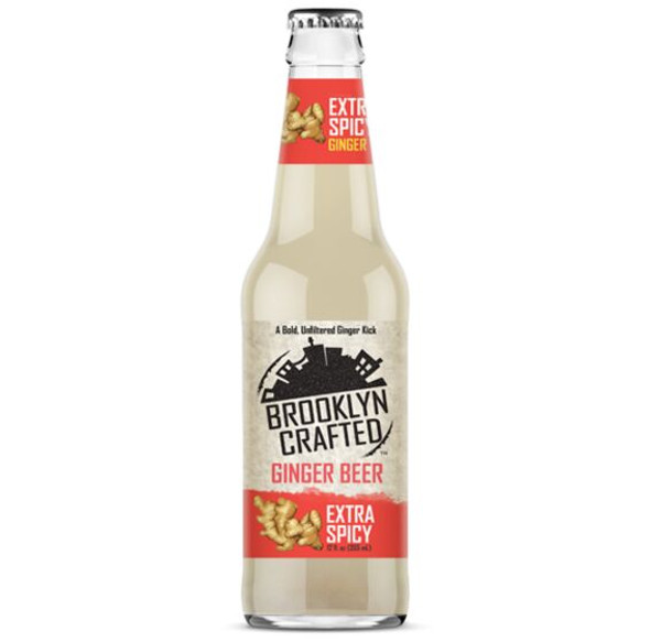 Brooklyn Crafted 12 oz. Bottle Non-Alcoholic Extra Spicy Ginger Beer (4 Pack)