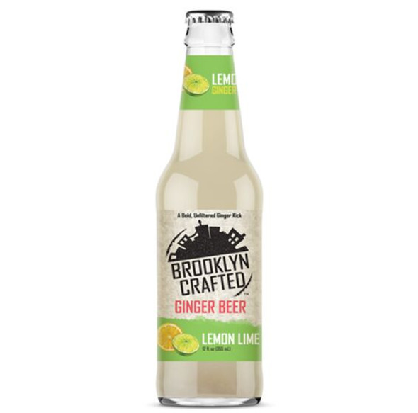Brooklyn Crafted 12 oz. Bottle Non-Alcoholic Lemon Lime Free Ginger Beer (4 Pack)