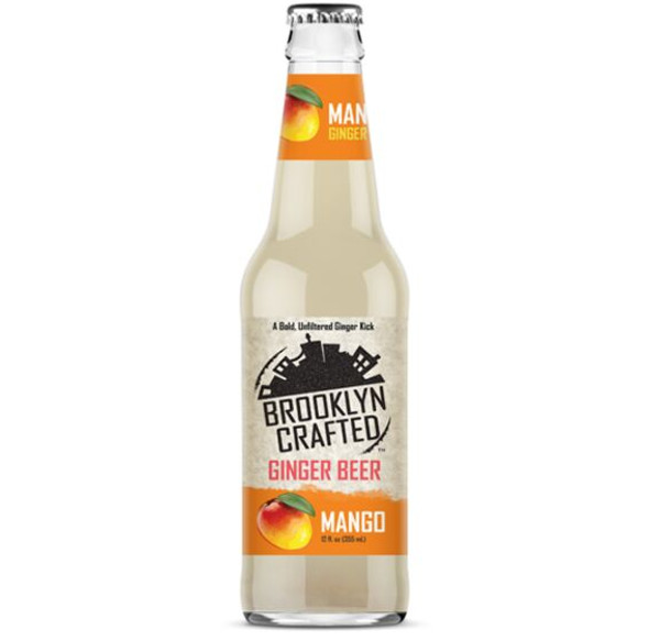 Brooklyn Crafted 12 oz. Bottle Non-Alcoholic Mango Free Ginger Beer (4 Pack)