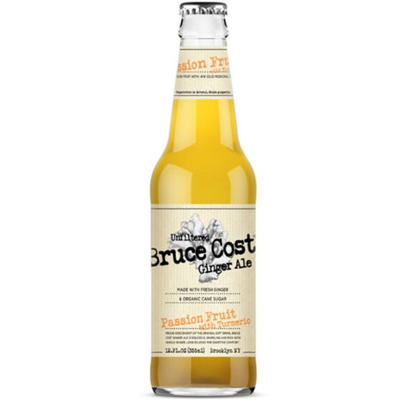 Bruce Coast 12 oz. Bottle Passion Fruit with Turmeric Ginger Ale (4 Pack)