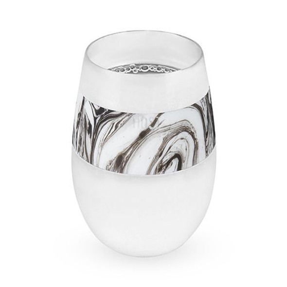 Wine FREEZE™ Cooling Cup in Black Swirl Single by HOST