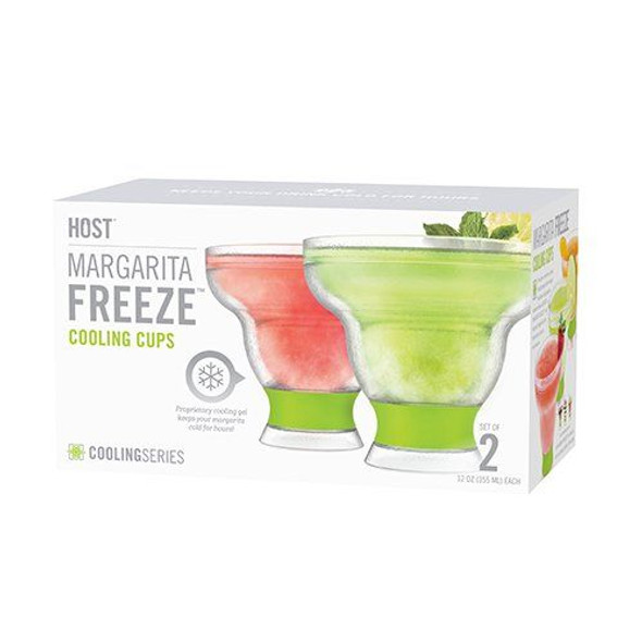 HOST® Margarita FREEZE™ Cooling Cups in Green (Set of 2)