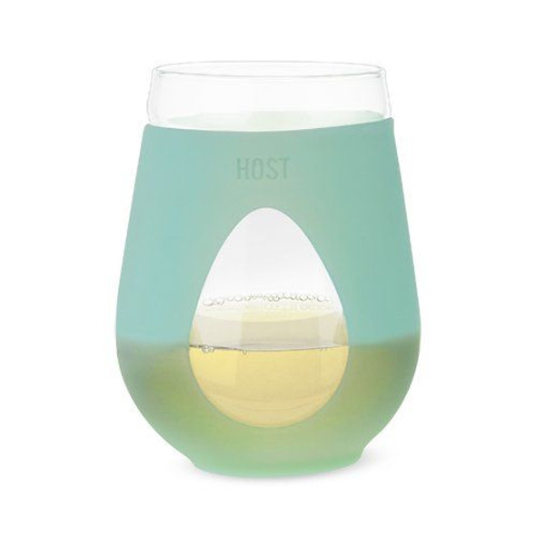 REVIVE Glass Stemless Wine Glass in Mint by HOST (Set of 2)
