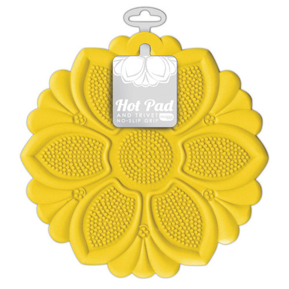 Talisman Designs Silicone Hot Pad & Trivet in Yellow