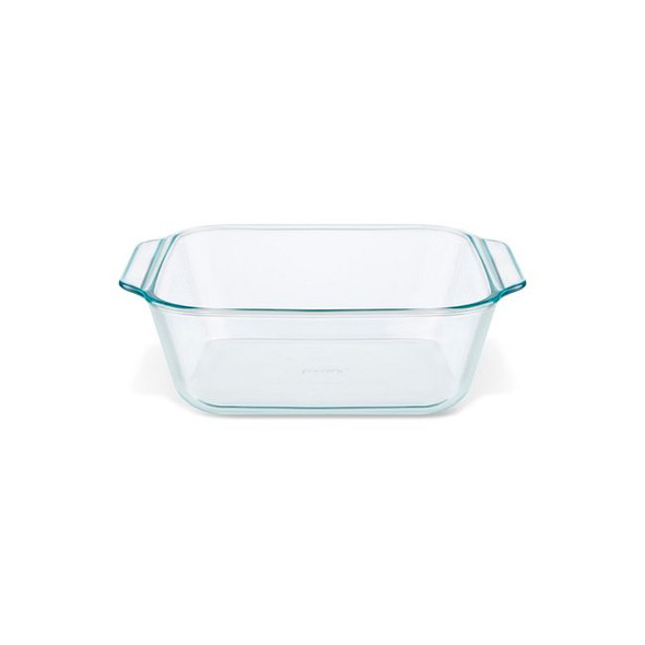 Pyrex® Deep 8-Inch Square Glass Baking Dish with Sage Green Lid