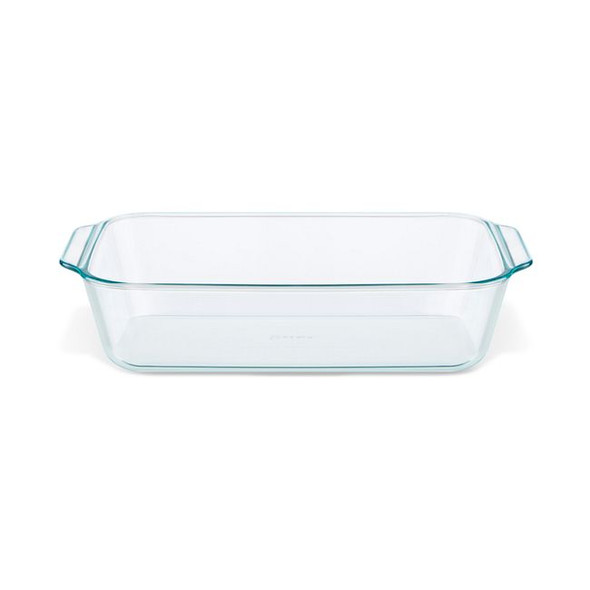 """Pyrex® Deep 7 x 11"""" Rectangle Glass Baking Dish with Sage Green Lid"""