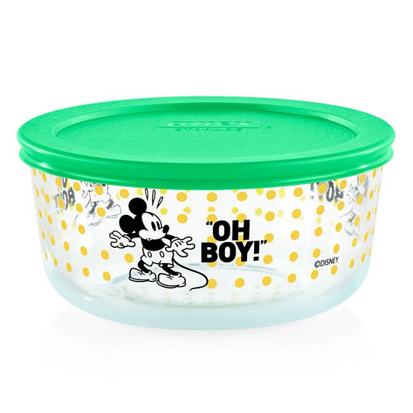 Pyrex® 4-Cup Decorated Mickey Mouse Oh Boy The True Original Storage