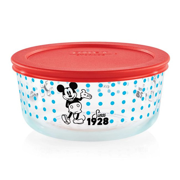 Pyrex® 4-cup Mickey Mouse Since 1928 Decorated Storage